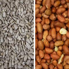 12.55kg Sunflower Hearts & 12.55kg Premium Peanuts