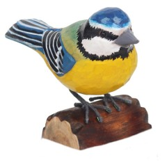 RSPB Hand Crafted Wooden Blue Tit with Display Box