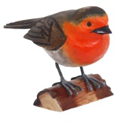 RSPB Hand Crafted Wooden Robin with Display Box