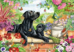 Black Lab and Pup Jigsaw 1000 Pieces