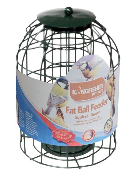 Kingfisher squirrel guard fat suet ball feeder for How to make suet balls for bird feeders