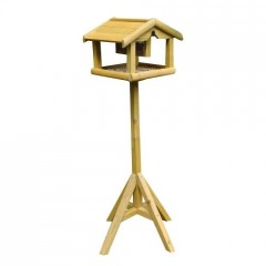 Wooden Bird Table with built in feeder