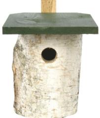 Birch Log Nest Box with 32mm Hole