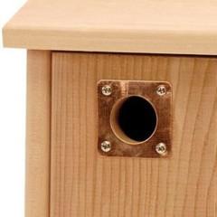 Copper Nest Box Hole Protection Plates
