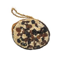 Half Coconut with Raisins