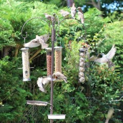 Heritage Complete Four Arm Feeding Station With Bird Bath & Seed Tray
