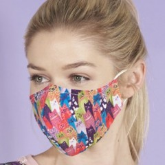 Eco Chic Face Mask - Cats