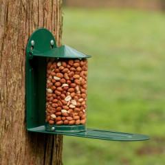National Trust Green Metal Squirrel Feeder