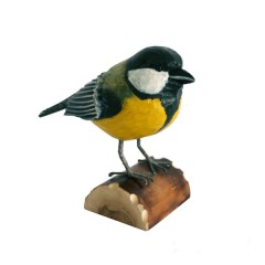 RSPB Hand Crafted Wooden Great Tit with Display Box