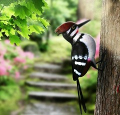 Woodpecker with Fixing Hole