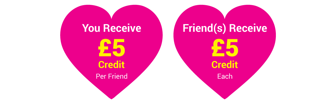 Receive Credits for friend referals