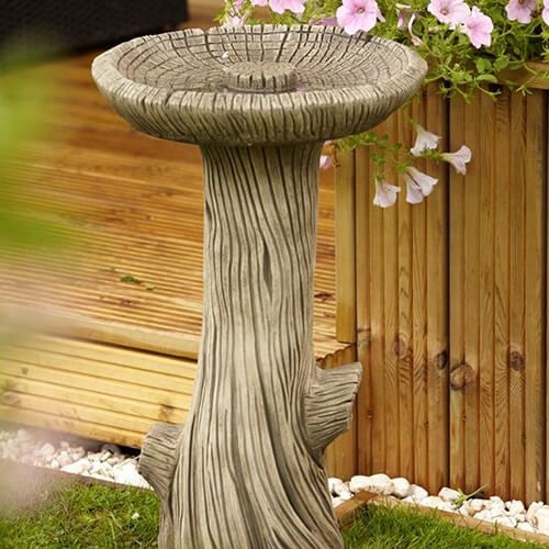 Borderstone Log Bird Bath