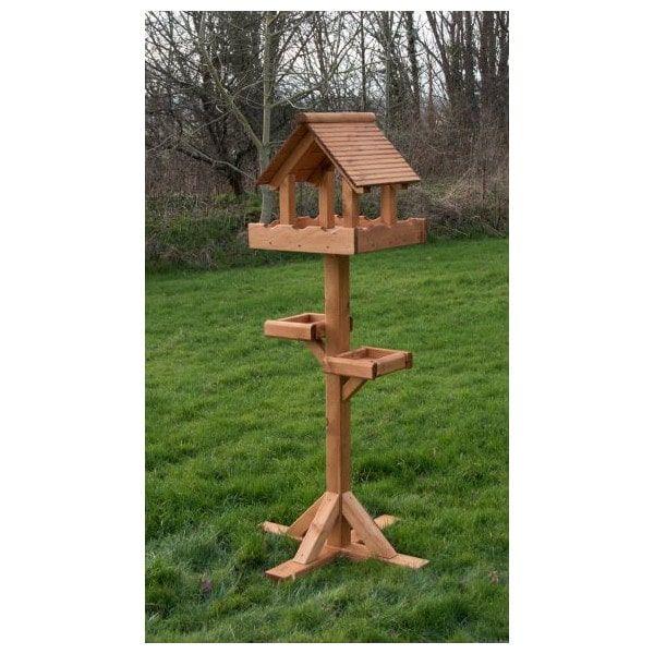 Riverside Woodcraft Triple Large Bird Table